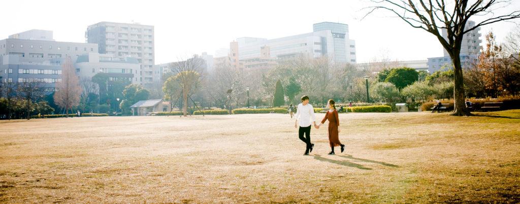 私服前撮り・エンゲージメントフォト|木場公園